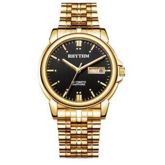 ซื้อ/ขาย RHYTHM นาฬิกาข้อมือ Automatic รุ่น A1110S06 - Gold - Black