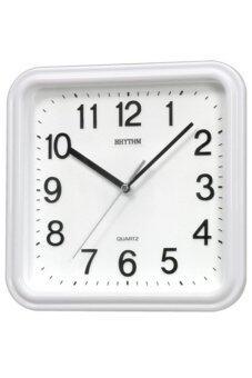 RHYTHM นาฬิกาแขวน รุ่น CMG450-NR03 (สีขาว)