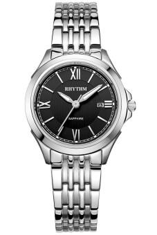 ราคา RHYTHM นาฬิกาข้อมือสตรี สายสแตนเลส รุ่น P1206S02 - เรือนเหล็ก/หน้าดำ