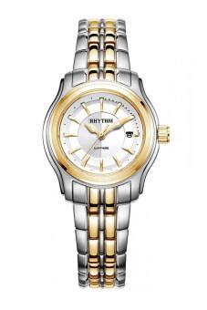 ราคา RHYTHM นาฬิกาข้อมือสตรี สายสแตนเลส รุ่น P1214S03 - เรือน 2 กษัตริย์/หน้าขาว