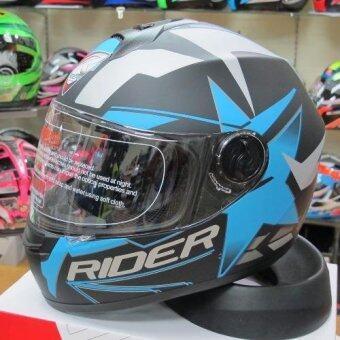 ต้องการขาย Rider หมวกกันน็อก Vision X สี ฟ้า Star Blue (Big Bike andmotorcycle Helmet)