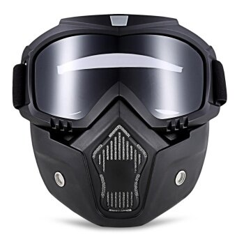 ROBESBON MT - 009 Motorcycle Goggles with Detachable Mask and MouthFilter Harley Style Protect Padding Helmet Sunglasses - intl