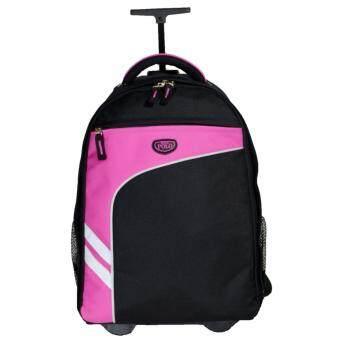 Romar Polo กระเป๋า กระเป๋าเป้ล้อลาก Code R123418\ (Black/Pink)