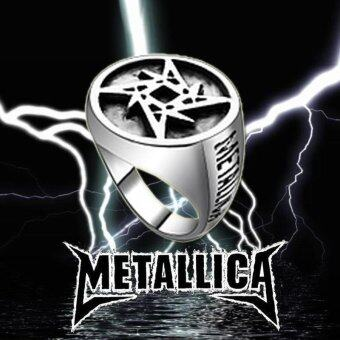 Rorychen Vintage Charm Ring Rock Band Metallica Logo Ring FashionJewelry for Men - intl