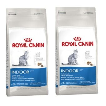 Royal Canin Indoor for Cat 400g x 2 Piecesโรยัลคานิน สูตรสำหรับแมวโตอายุ1-10ปี เลี้ยงในบ้าน (3182550704618-2)