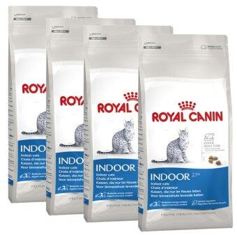 Royal Canin Indoor for Cat 400g x 4 Piecesโรยัลคานิน สูตรสำหรับแมวโตอายุ1-10ปี เลี้ยงในบ้าน (3182550704618-4)