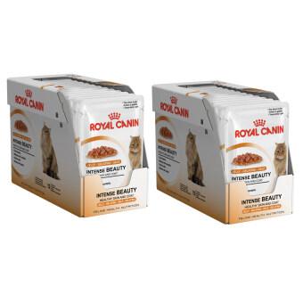 Royal Canin Intense Beauty in Jelly for Adult Cat 1-10yrs 85 g.x24 Pouchโรยัลคานิน สูตรบำรุงขนสำหรับแมวโตอายุ1-10ปี  (9003579311721-24)