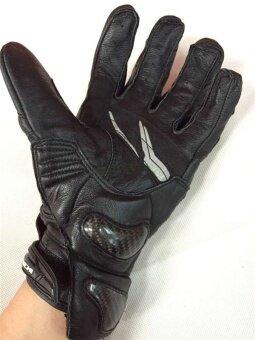RS-400 Full Leather Short Car Gloves / Motorcycle Gloves KnightEquipment Wrestling Leather Gloves (black) - intl