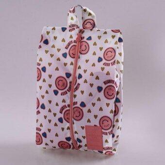 กระเป๋าจัดของ กระเป๋าจัดระเบียบ – 8 – สีลายสไมล์ชมพู