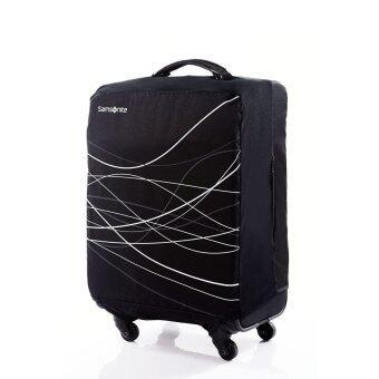 SAMSONITE ถุงคลุมกระเป๋า FOLDABLE LUGGAGE COVER M( สี BLACK )