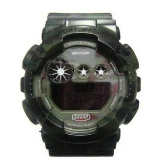ประเทศไทย Sanda SP080GR นาฬิกาสปอร์ตสีเขียว สายทำจากซิลิโคน รุ่น 289