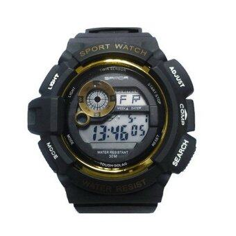 2561 Sanda SP116BK นาฬิกาสปอร์ตสีดำ สายทำจากซิลิโคน รุ่น 302