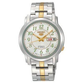 SEIKO 5 Automatic นาฬิกาข้อมือสุภาพบุรุษ สองกษัตริย์ Stainless Strap รุ่น SNKL95K1