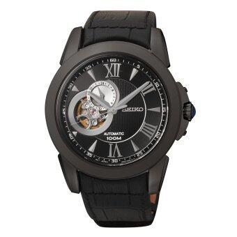 ประเทศไทย Seiko นาฬิกาข้อมือผู้ชาย Analog Display Japanese automatic Black Watch SSA243K1