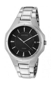 ประเทศไทย Seiko นาฬิกาข้อมือ รุ่น ควอทซ์ Gent SGEF61P1 - silver/black