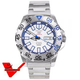 Seiko Mini Monster Autometic นาฬิกาข้อมือผู้ชาย สายสแตนเลส รุ่น SRP481K1 - สีขาว