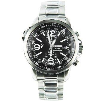 SEIKO Solar Chronograph นาฬิกาข้อมือผู้ชาย รุ่น SSC075P1