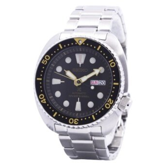 SEIKO SRP775J1 PROSPEX Turtle CLASSIC DIVER อัตโนมัติ 200 เมตรสีดำนาฬิกาผู้ชาย