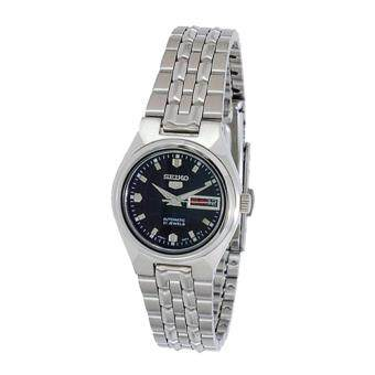 Seiko Watch 5 Automatic Silver Stainless-Steel Case Stainless-Steel Bracelet Ladies Japan NWT + Warranty SYMK43K1