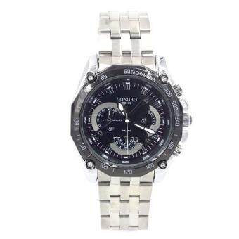Sevenlight นาฬิกาข้อมือผู้ชาย รุ่น GP9174 (Silver/Black)พิเศษแถมซองนาฬิกาสุดหรู