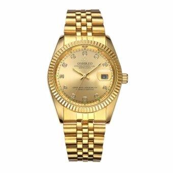 Sevenlight OSHRZO นาฬิกาข้อมือชาย กันน้ำ - GP9839 (Pure Gold)