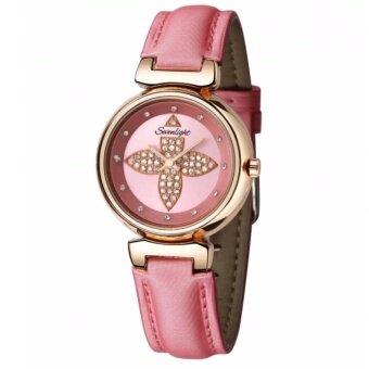 Sevenlight นาฬิกาข้อมือผู้หญิง ประดับคริสตัล (แถมซองกำมะหย๊่สวยหรู) รุ่น WP8801