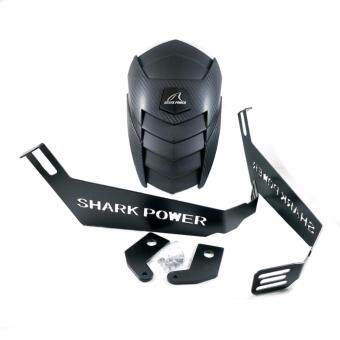 Shark Power กันดีด M-SLAZ (ตรงรุ่น) R15 ทรงแบทแมน เคฟล่า สีดำด้าน พร้อมอุปกรณ์ติดตั้ง