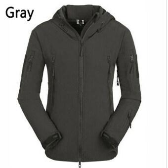 ประกาศขาย Shark skin soft shell V4.0 Technology wind rain multipurposeRaincoat professional Outdoor Ski-wear (Lake Green)