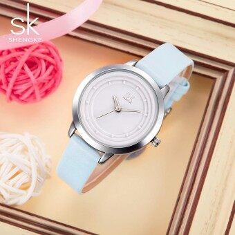 Shengke Fashion Womens Watches Simple Style Leather Bracelet Watch Women Luxury Quartz Wristwatches Gift for Girls saat bayan - intl