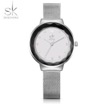 Shengke New Style Ladies Wrist Watch Luxury Crystal Women Casual Dress Watches Small Hours Clock Gift Simple Watches Girls - intl