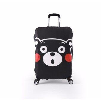 ผ้าคลุมกระเป๋าเดินทางลายหมีคุมะหน้าตรง Size S ขนาดกระเป๋า 18-21 นิ้ว