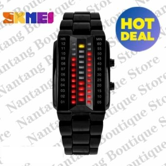 Skmei 1013 Uni-sex Lover's Wrist Watch (Black)