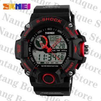 Skmei 1029คนนาฬิกากันน้ำกีฬา 50แผ่นนาฬิกาข้อมือคนสีแดง