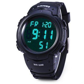 Skmei 1068 ledนาฬิกากันน้ำทหารกองทัพบกวันวันที่จับเวลาฟังก์ชันเตือน