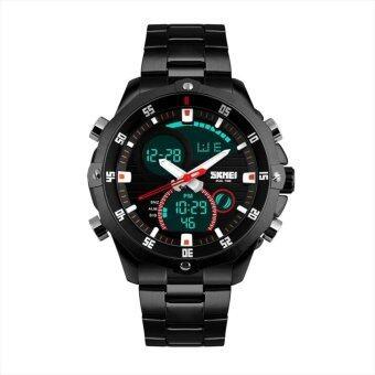 SKMEI รุ่น1146 นาฬิกาข้อมือ นาฬิกาแฟชั่น ผู้ชาย สายสแตนเลส สีดำ Men Stainless Watchband Business Watch - Black