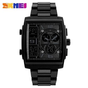 SKMEI 1274 Men's Electronic Watch Multi-function Outdoor Sports Electronic Watches -Black - intl