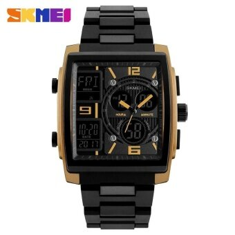 SKMEI 1274 Men's Electronic Watch Multi-function Outdoor Sports Electronic Watches Gold - intl