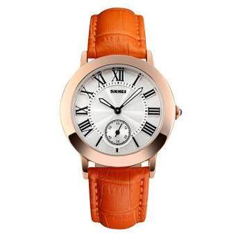 สำหรับผู้หญิงยี่ห้อ SKMEI แท้หนังสายแฟชั่นย้อนยุคธุรกิจนาฬิกาควอตซ์- นานาชาติ