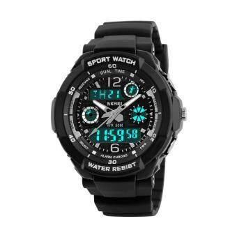นาฬิกา SKMEI เด็กกีฬา 50 เมตรกันน้ำแฟชั่นสบาย ๆ ควอตซ์ดิจิตอลนาฬิกาชายสาว LED มัลติฟังก์ชั่นนาฬิกาข้อมือ - นานาชาติ
