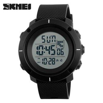 SKMEI Men Sports Watches Military 50M Waterproof LED Digital Watch Clock Men Fashion Outdoor Wristwatches - Black - intl
