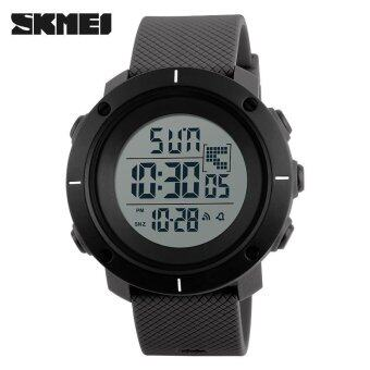 SKMEI Men Sports Watches Military 50M Waterproof LED Digital WatchClock Men Fashion Outdoor Wristwatches - Grey - intl