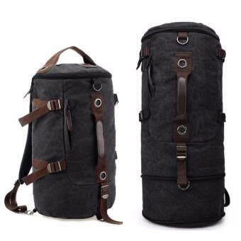 Smart Bag กระเป๋าสะพายผ้าแคนวาสแบบสะพายหลัง มีส่วนยืดด้านข้าง 15 ซ.ม. และพับเก็บเมื่อไม่ใช้ M3-026 สีดำ สไตล์เกาหลี รุ่น MB-1028 PP