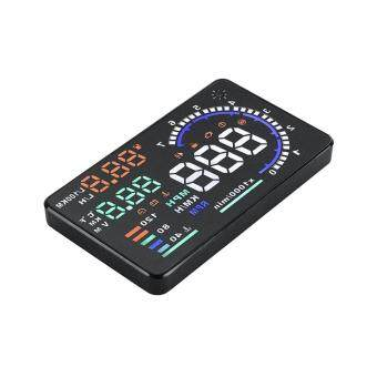 SOBUY Car A8 Head Up Display 5.5\ Color Screen Speed Head Up Display with OBD2 Interface Plug Play KM/h MPH Speeding Warning