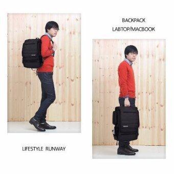 กระเป๋าโน๊ตบุ๊ค กระเป๋าเป้สะพายหลัง SOCKO สำหรับ MACBOOK GAMER HIGH GRADE 15.6-17 นิ้ว #สีดำ(Black) - 5