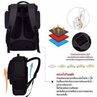 กระเป๋าโน๊ตบุ๊ค กระเป๋าเป้สะพายหลัง SOCKO สำหรับ MACBOOK GAMER HIGH GRADE 15.6-17 นิ้ว #สีดำ(Black) - 3