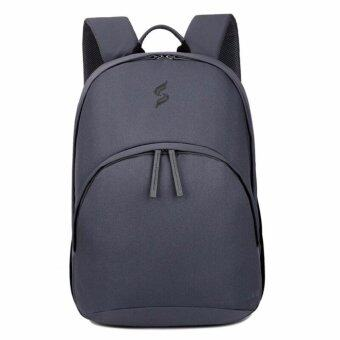 Socko กระเป๋าเป้ Notebook / Laptop ผ้ากันน้ำ รองรับได้ถึง 15.6 นิ้ว(เทา)(Grey)