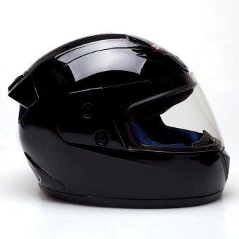ซื้อ SPACE CROWN หมวกกันน๊อคเต็มใบ ปิดคาง รุ่นFIGHTER (สีดำ)
