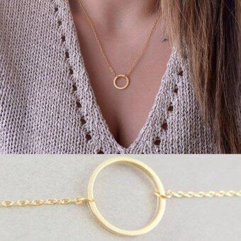 Harga Sparkling Good Lucky Pendant Necklace Gold Plated Clavicle Chains Women Jewelry (Color: Gold) - intl
