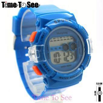 2561 Sport Watch (ฺฺBright) นาฬิกาข้อมือผู้หญิงและเด็ก สายยาง ระบบ Digital