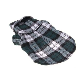 Spring and Summer Pet Clothes Plaid Shirt - Green S - intl